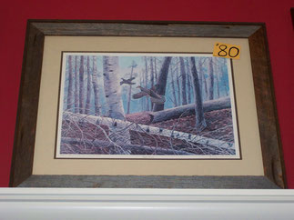 Print Wildlife  Quails Trees