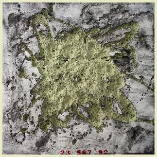 o.t. - 2010 - kunststoff und pigment - 80 x 80 cm