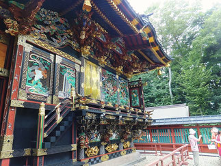 Shodenzan with Brilliant Color Carvings in Kumagaya