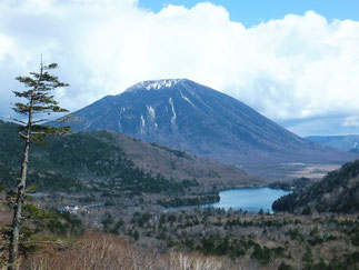 Mt. Nanatai and Yunoko Lake, view from Konsei Pass