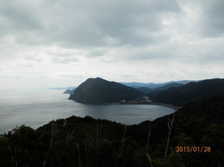 高山海岸と宮崎県方面。
