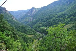 Ausblick bei der Durdevica-Tara-Brücke