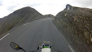 Col de la Bonette, links geht's zur Cime