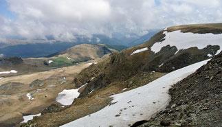 Blick vom Scheitel des Urdele-Pass
