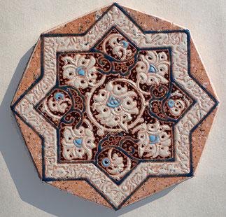 dessous de plat art iran émaillée sur pierre de menet