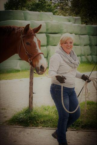 Ik met mijn paard Ungaro
