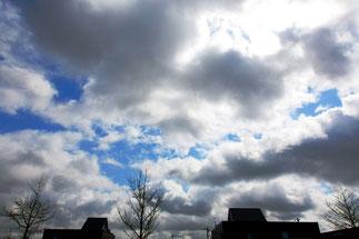 日本 北海道 札幌 青空と雄大な雲