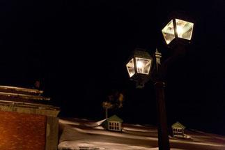 冬のガス灯