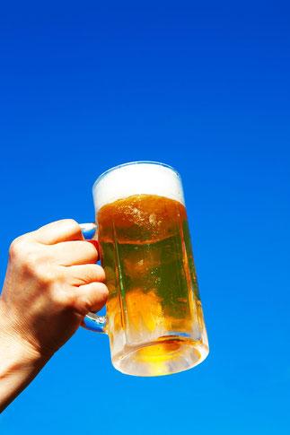青空とビールを片手に6