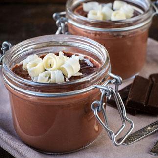 Mousse au Chocolat mit Olivenöl