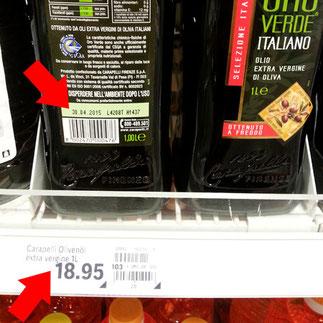 COOP Carapelli Olivenöl - COOP mit Preiserhöhung bei alten Olivenölen