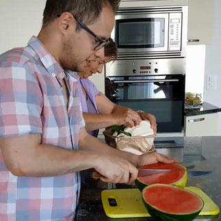 Gazpacho von der Wassermelone.