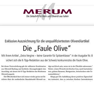 Merum: Faule Olive für den K-Tipp