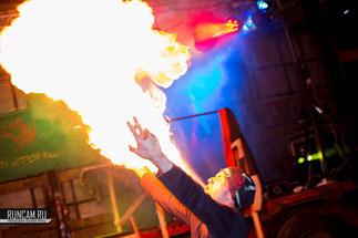 Проф-фест в Боровково, фаершоу, fire show