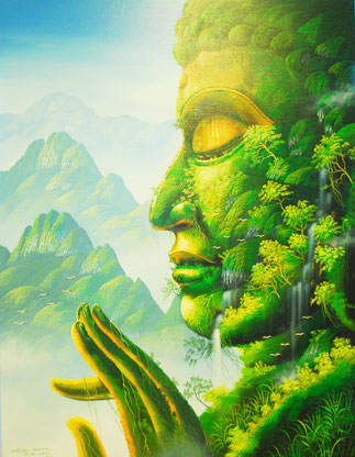 Buddha art painting, Buddha Gemälde, Asia Art