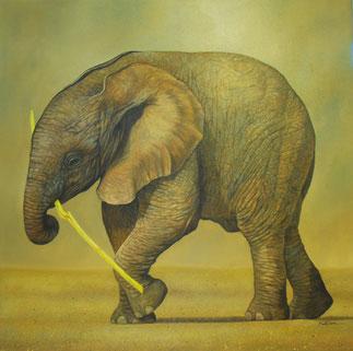 Junger Elefant - schönes Kunstbild