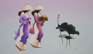Gemälde Vietnam Original Künstler