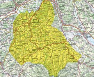"""Karte """"Neophytenarme Zone"""""""