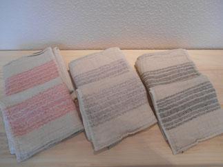 オーガニックコットン使用の柔らかいタオル