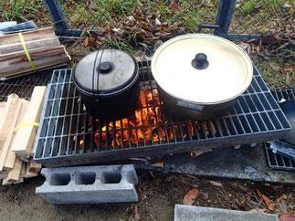 野外訓練 ご飯