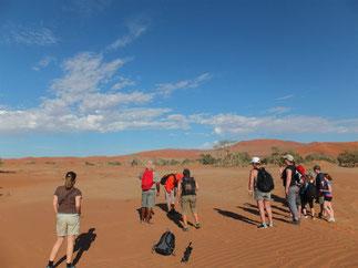 Deadvleiまで砂漠を5kmウォーキング