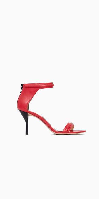 MARTINI Mid Heel Sandal Raspberry