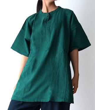 ヂェン先生の日常着 ヘンリーTシャツ半袖