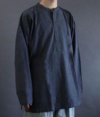 ヂェン先生の日常着 ヘンリーシャツ 長袖 厚地 通販 オンラインショップ