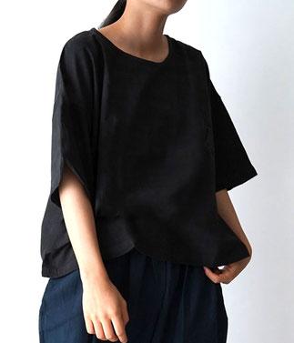 ヂェン先生の日常着 半袖Tシャツショート丈