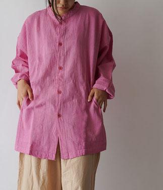 ヂェン先生の日常着 開襟シャツ長袖