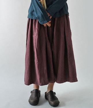 ヂェン先生の日常着 ボリュームスカート厚手