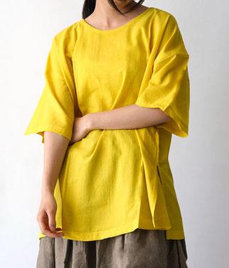 ヂェン先生の日常着 半袖Tシャツチュニック丈