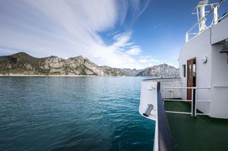Mit der Fähre von Andenes nach Gryllefjord