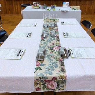 森澤セラピストのテーブル・セッティングは、いついかなるときもエレガント♪ とても素敵です。
