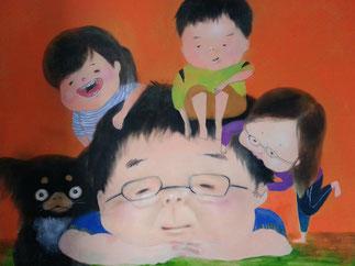 IKOI韓国語教室にある家族の絵
