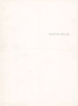 Martin Walde Katalog (Catalogue) 2.