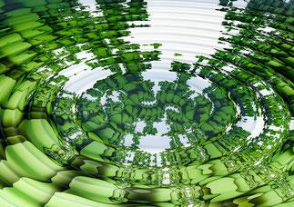 funktionsweise hypnose rauchfrei wasser kreise grün