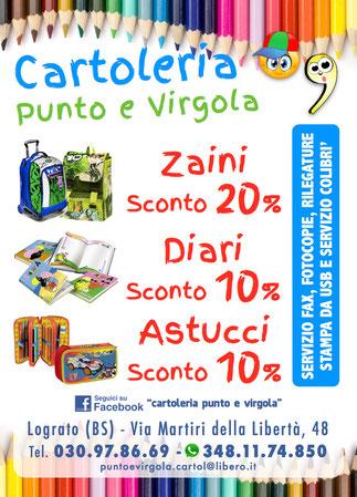 Volantino Cartoleria Punto e Virgola - Lograto (Brescia)