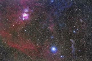 オリオン座南西部分子雲