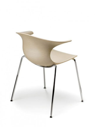 Loop wood infiniti design Silla moderna de comedor loop 3d wood infinitidesign lacadira.com