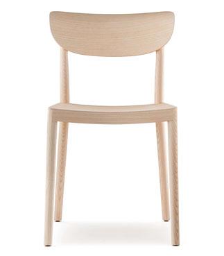 Tivoli pedrali silla estilo nórdico en madera