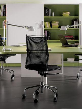 giratoria de oficina moderna respaldo de malla DOE tafesa lacadira.com