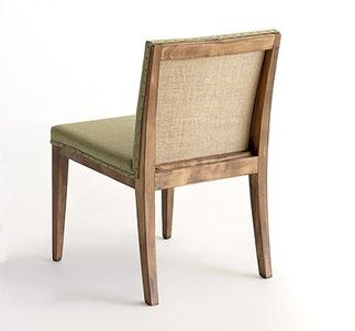 Max vintage silla vintage de madera acabdo anticuario con tapizado arpillera