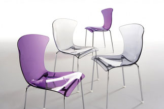 silla metraquilato tecnopolimero transparente lacadira.com