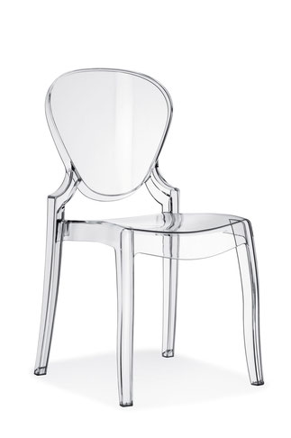 Queen pedrali Silla de comedor moderna transparente policarbonato Queen pedrali lacadira.com