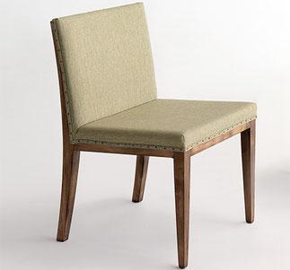 silla de comedor Max vintage de madera vintage antiguo tapizado