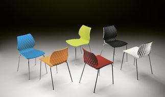 silla polipropileno Uni metalmobil colores lacadira.com