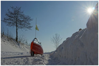 Dans la neige...
