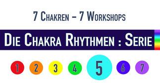 Trommelworkshop • Die Chakra Rhythmen : Serie • 5. Chakra • 17.01.2019 • Trommelschule Yngo Gutmann, Leipzig