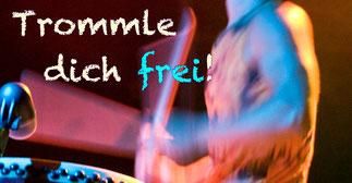 """Trommelworkshop """"trommle dich frei"""" Donnerstag 7.3.2019 • Trommelschule Yngo Gutmann, Leipzig"""